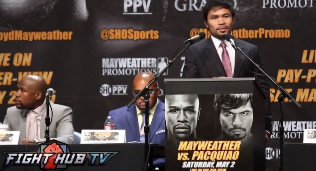 Floyd Mayweather vs Manny Pacquiao Press Conference for the upcoming Boxing fight
