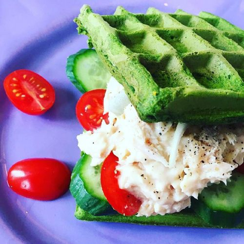 Vafler med spinat - GreenGoddessGuide