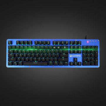 Mantistek® GK2 104 Keys NKRO RGB Blue Red Black Brown Switch Mechanical Gaming Keyboard Sale - Banggood.com
