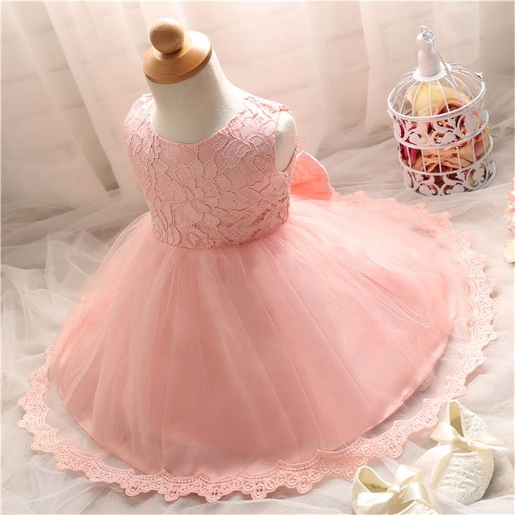 Casual Summer Newborn 1 Years Baby Birthday Baptism Dress For Kids Clothes Vestido Infantil Toddler Christening Clothing G4