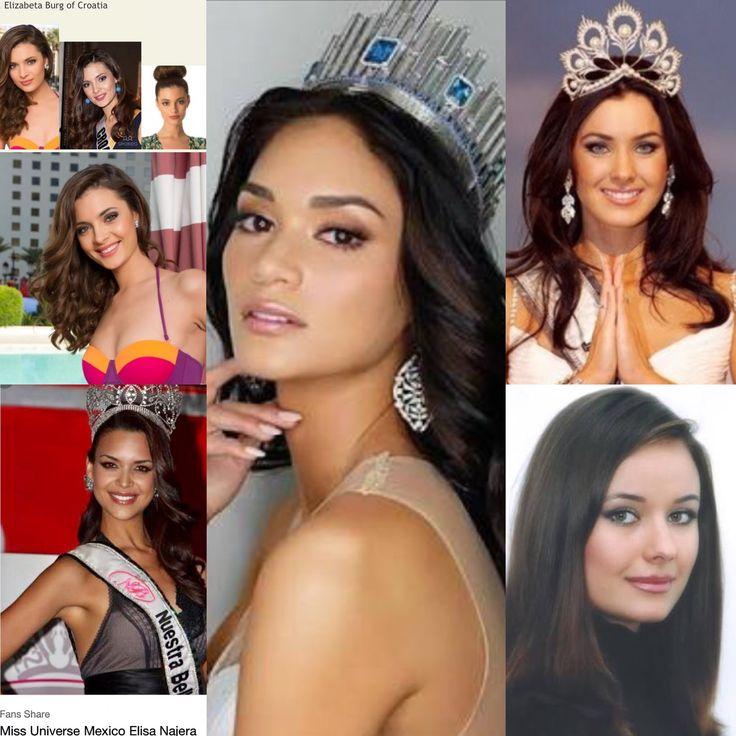 My favorite Miss Universe beauties: Elizabeta Burg, Elisa Najera, Pia Alonzo Wurtzbach, Natalie Glebova & Oxana Fedorova