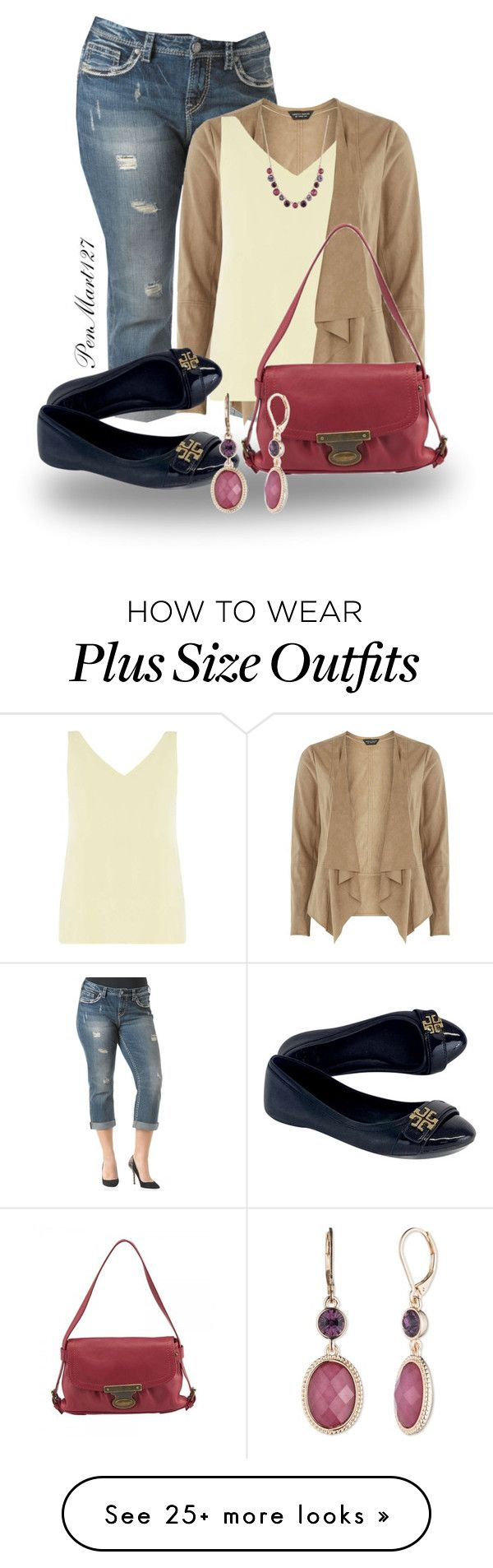 """""""Plus Size Fall"""" by penny-martin on Polyvore featuring Dorothy Perkins, Marc Jacobs, Tory Burch and Nine West"""
