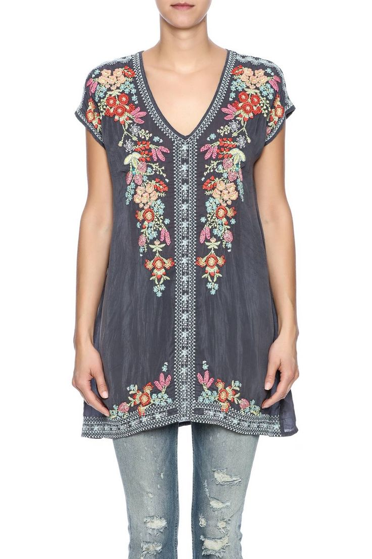 Johnny Was Embroidered Tunic - Side Cropped Image
