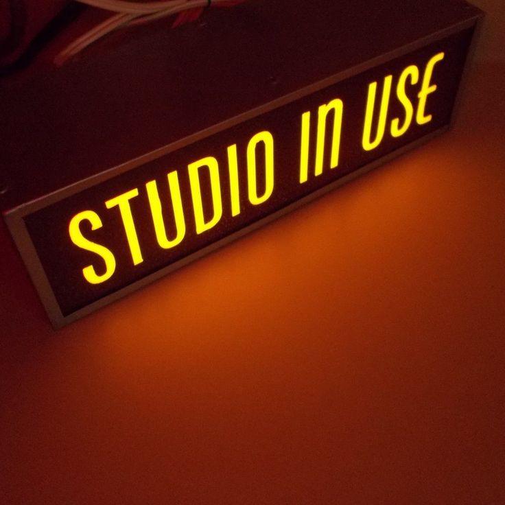 Universal RECORDING ON AIR Studio IN USE light warning lighted radio TV sign BIN in | eBay