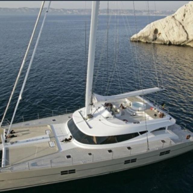 Katamaran Katamaranyachten Cannes Boot Fahren Nautisch Schiffe