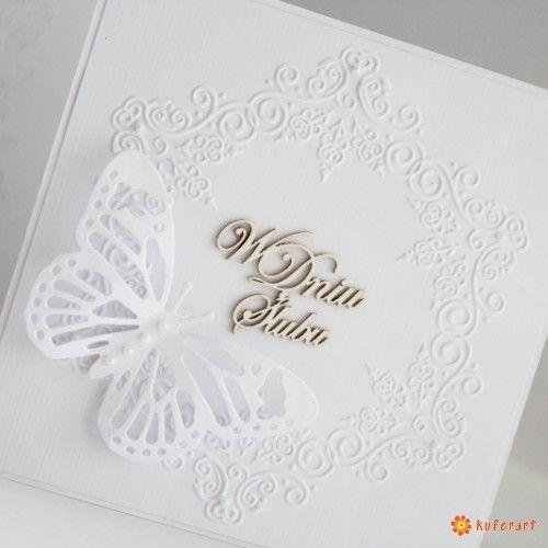 Kartka na Ślub biała - Scrapbooking - Papier
