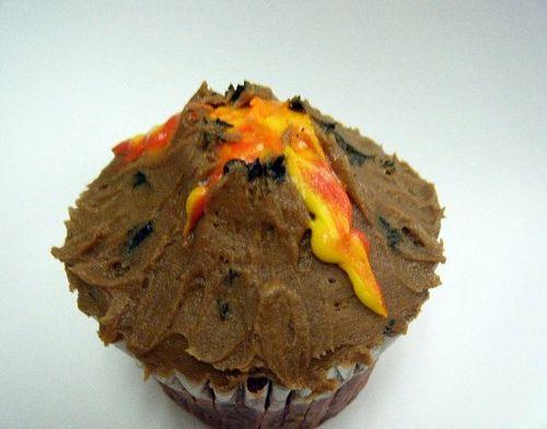 Volcano Cupcake by Steffie*, via Flickr