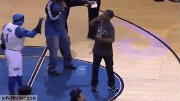 Fan Makes A Basketball Dunk While He's On The Phone | Gif Finder – Find and…