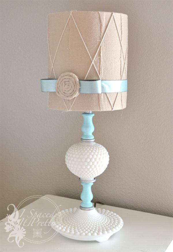 1000 images about lamp and shade makeovers on pinterest lace lamp good diy instructions on how to paint lamps and make shades i spaced it pretty aloadofball Image collections