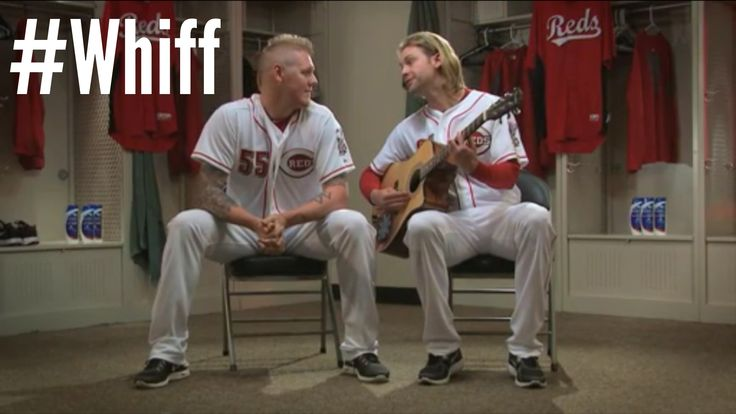 It's the season of the #whiff. Click through the photo to see Mat Latos and Bronson Arroyo sing about it. http://atmlb.com/12Wgjvw