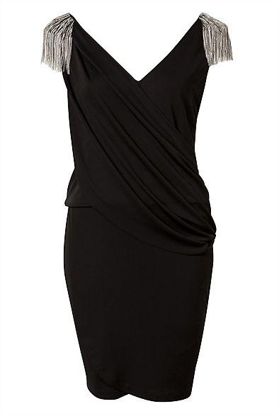 Chain Shoulder Dress