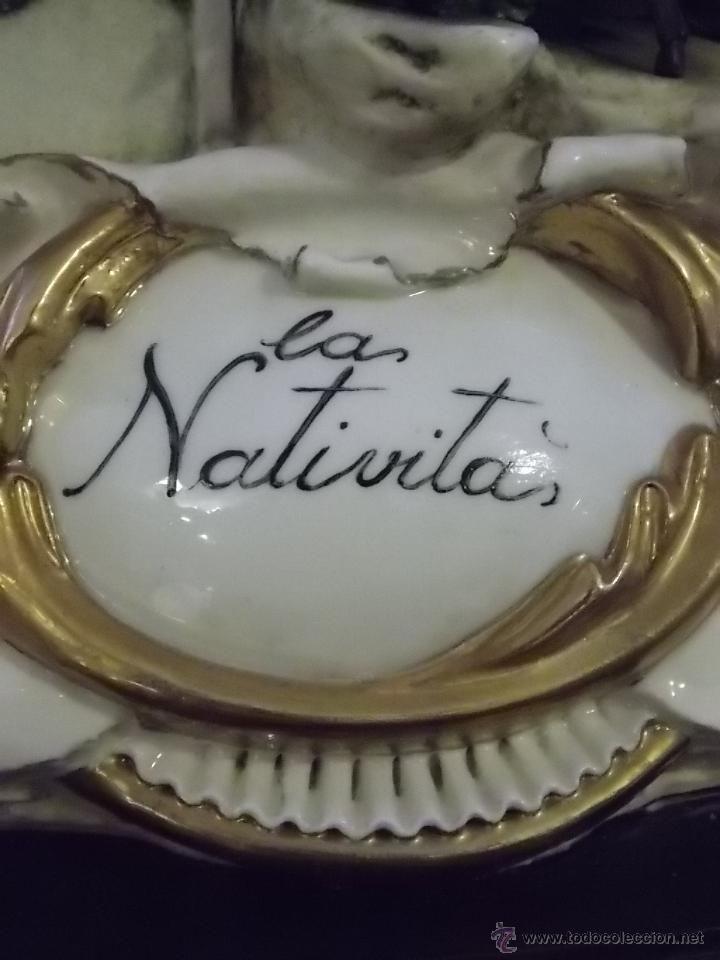 Antigüedades: Nacimiento Belen figura porcelana fina Capo di monte Las Nativitas edc. limitada - Foto 4 - 51195504