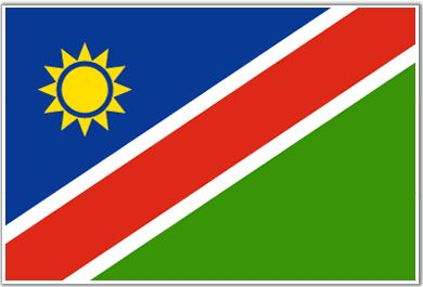 Namibia Flag - Download Picture of Blank Namibia Flag For Kids to Color.