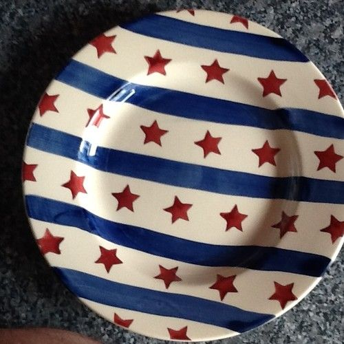 Emma Bridgewater sample STARS & STRIPES plate