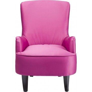 Un #fauteuil à oreilles très élégant qui offre une sensation de bonne humeur et de bien être dans votre intérieur grâce à sa couleur #rose fuchsia.   Fauteuil à oreilles Boudoir fuchsia #Kare #Design