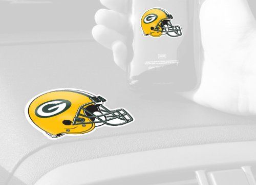 FANMATS NFL Green Bay Packers Plastic GetaGrip  https://allstarsportsfan.com/product/fanmats-nfl-green-bay-packers-plastic-getagrip/  Small grip goes on the back of your cell phone; large grip goes on your dashboard Phone stays in place when grips touch Durable polymer grips adhere to each Other