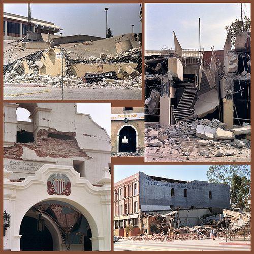 Crumbled by earthquake!