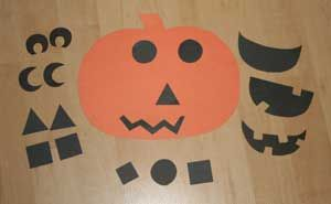 Pick a Jack-o-Lantern face. Make with felt or paper. Great for toddlers or small kids.