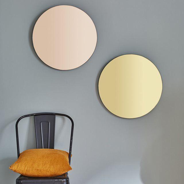 17 meilleures id es propos de miroirs ronds sur for Miroir rond cadre bois