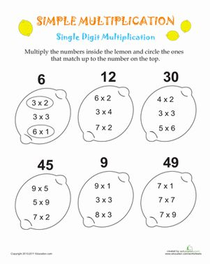 Printables 3rd Grade Multiplication Worksheets 1000 ideas about multiplication worksheets on pinterest math for 3rd grade third simple lemons
