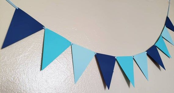 Purple Ombre Triangle Pennant Banner