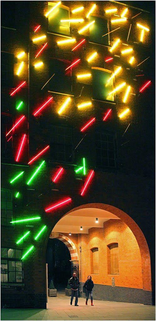 Light Instalation - Barge House Yard, London