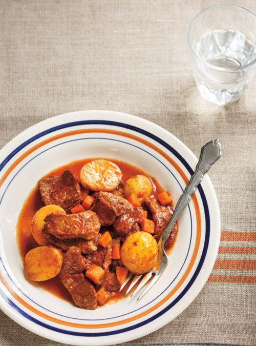 Mijoté de veau à la tomate et à la sauge