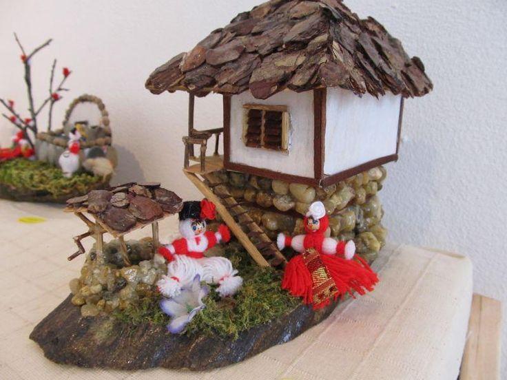 Къщата на Пижо и Пенда Макет, Мартеница Родопски стил | Ръчна изработка