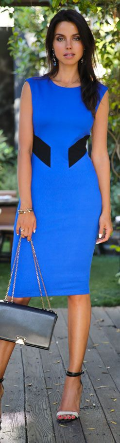 Bailey dress #blue #cocktail Imagine this in a looser business cut-