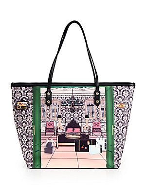 Love Moschino Borsa Hotel-Print Faux-Leather Tote.  $245