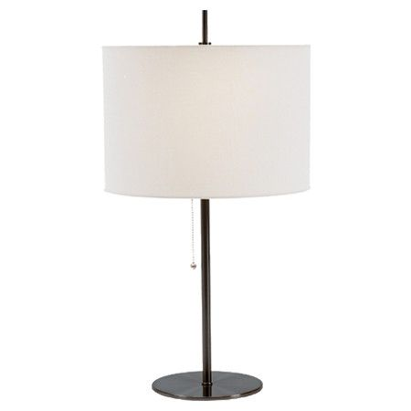 Found it at wayfair table lamp in black linen living - Black table lamps for living room ...