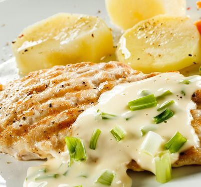Grilled Chicken with Creamy Caesar Sauce Recipe from Grandmother's Kitchen