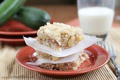 Zucchini Cobbler Bars : sounds weird but they taste fantastic!  Best way I've ever eaten zucchini.  Great way to use up the garden zucchini's I've been given.  Totally tastes like apple.