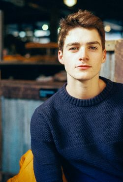 Finn Harries in New York, photographed by Emma Bates (2015)