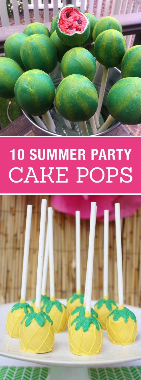 10 Creative Cake Pops for a Summer Party! Cute birthday or pool party desserts. From beach balls and sharks to lady bugs and crabs. 10 cute fun food ideas for cake pops! #cakedecorating