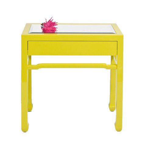 Captivating Vibrant Yellow Side Table.