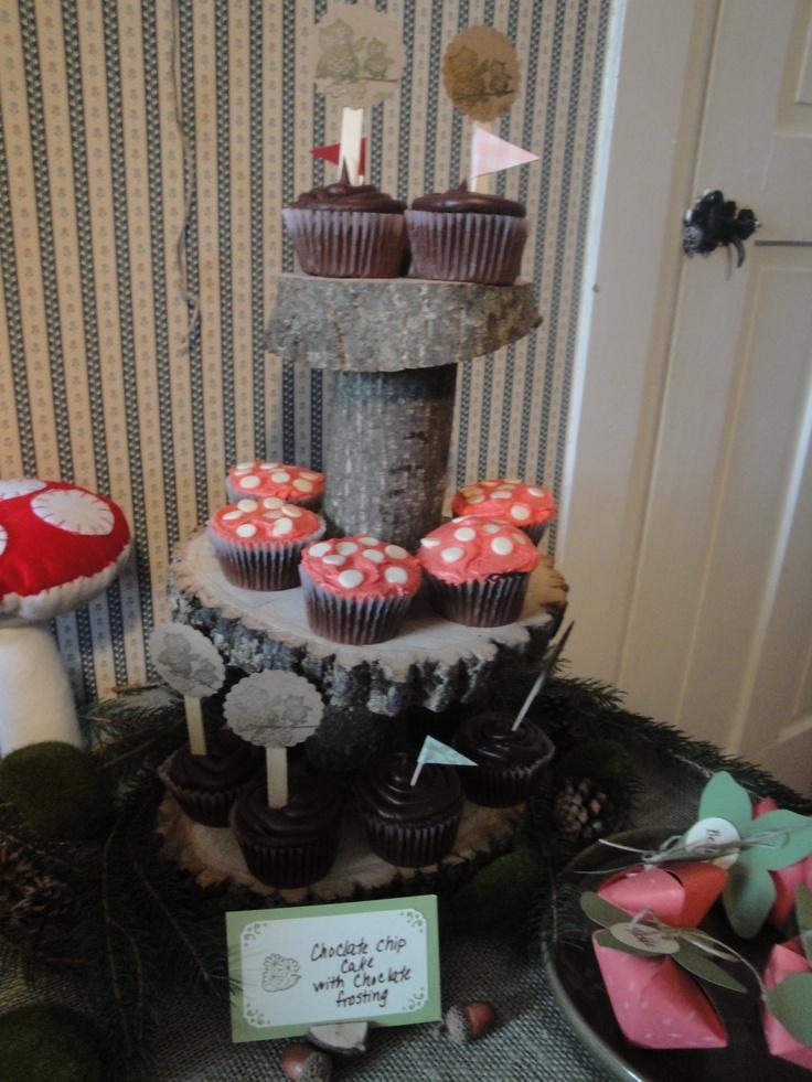 Woodland fairy cupcakes