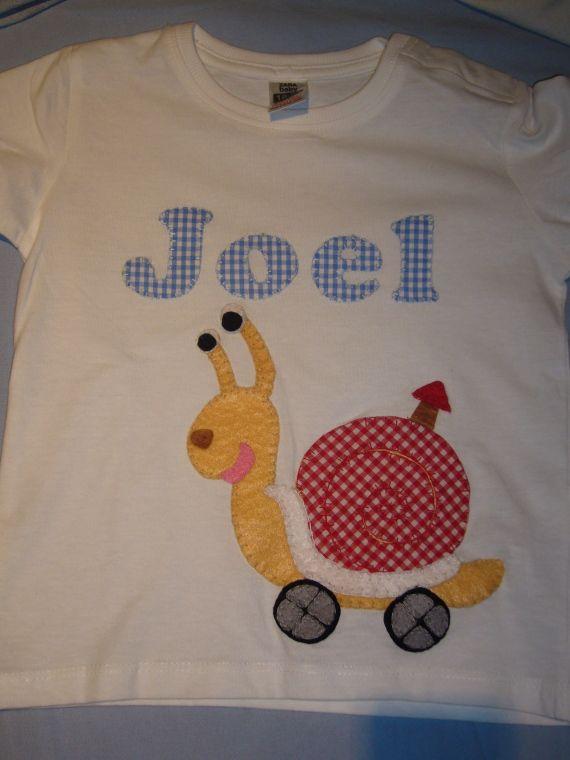 Camiseta Caracol!! / Cosetes de Marta - Artesanio