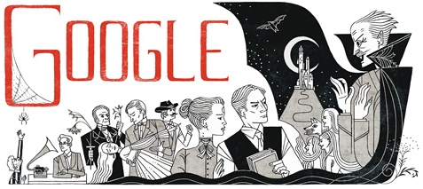 Google Celebrates Abraham Stoker With a Dracula Doodle