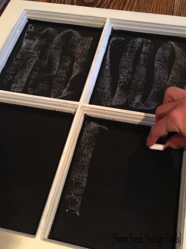 If you've ever painted a surface with chalkboard paint, only to have it not erase properly after writing on it the first time, I have the solution for you…..priming. Priming a freshly painted chalkboard can make all the difference in the world and it's super easy. First take your chalk and hold it sideways. Then […]