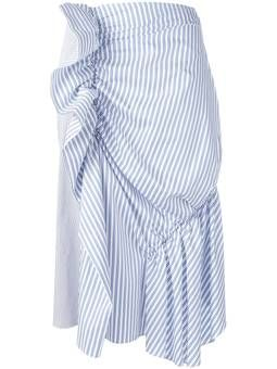полосатая юбка со сборкой