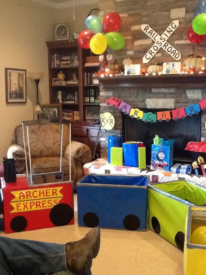 Archer's train birthday party!