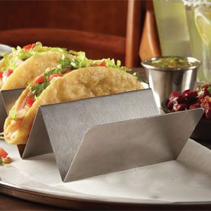 American Metalcraft TSH1 Stainless Steel Taco Holder with 1 or 2 Compartments - for Allison N!!!