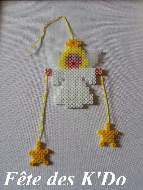 Christmas Angel hama perler ornament by fetedeskdo