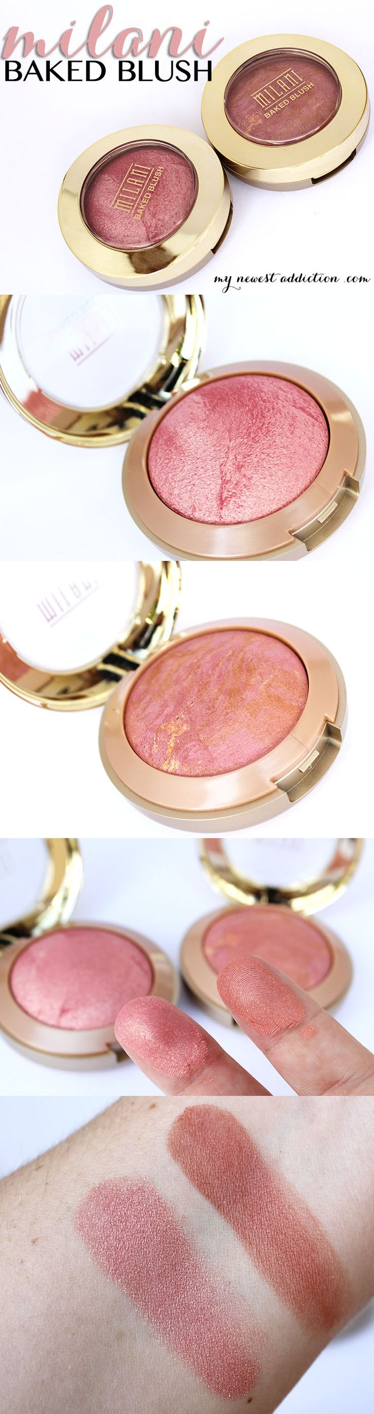 Milani Baked Blush in Dolce Pink and Berry Amore via www.mynewestaddiction.com