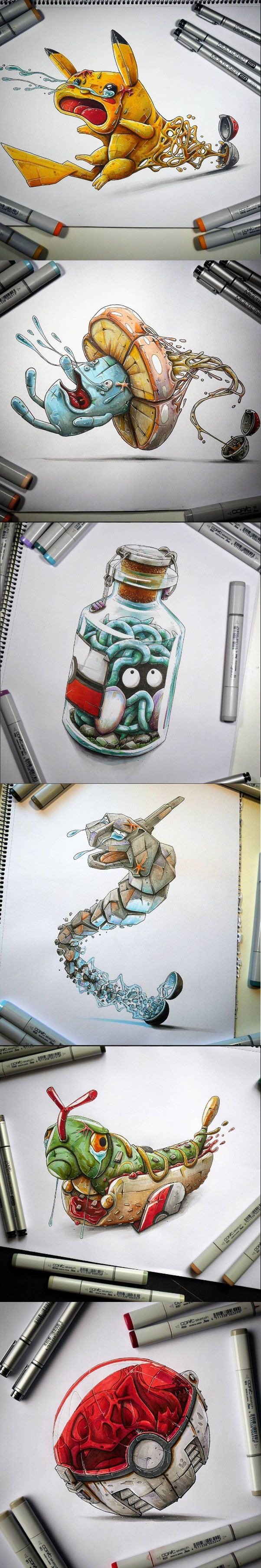Why Pikachu Refuses To Enter The Pokeball (By Tino Valentin Copic) - 9GAG
