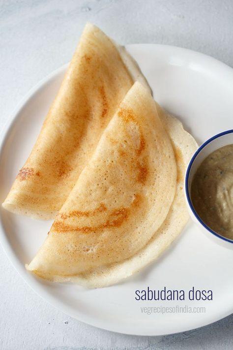 sabudana dosa recipe with step by step photos - soft dosa made from sabudana or tapioca pearls, idli rice and urad dal. the recipe of sabudana dosa gives nice soft dosas with a mild sweet taste