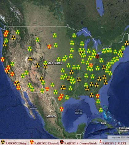 I segnali della contaminazione di Fukushima sulla costa occidentale