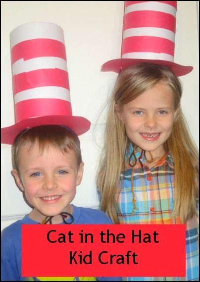 Cat in the Hat Top Hat inspired by Dr Suess. Make it today to celebrate Read Across America! #RAA #Dr Suess
