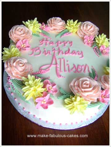 100 best Mums 50th images on Pinterest Flower birthday cakes